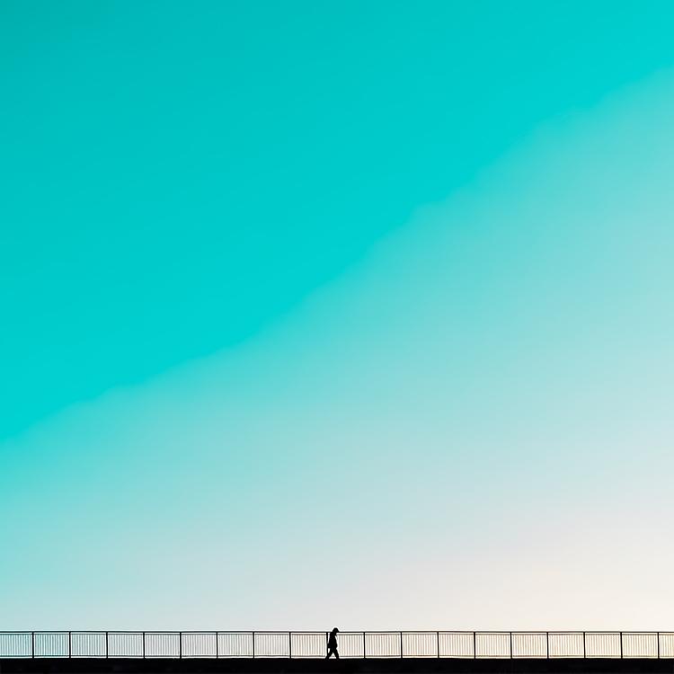 «Walk a thin line», 30x30 cm